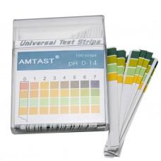 Тест полоски amtast ph 0-14 100 шт